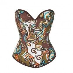 Brown patterned corset
