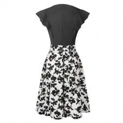 Vintage dress combined in black and white