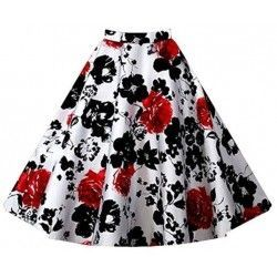 1950's Retro Full Circle Rockabilly Jive Swing Skirt