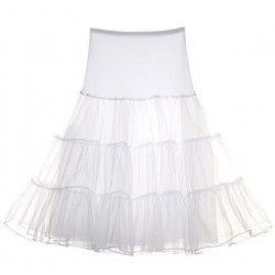 Adorable Tulle Flat Shape Waist Petticoat Skirt