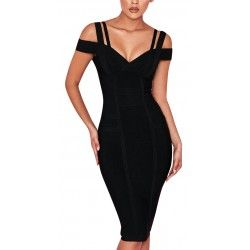 Black dress with straps and...