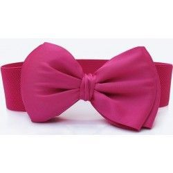 Pink elastic waistband decorated with tie
