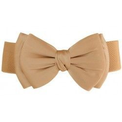 Nude elastic waistband decorated with tie