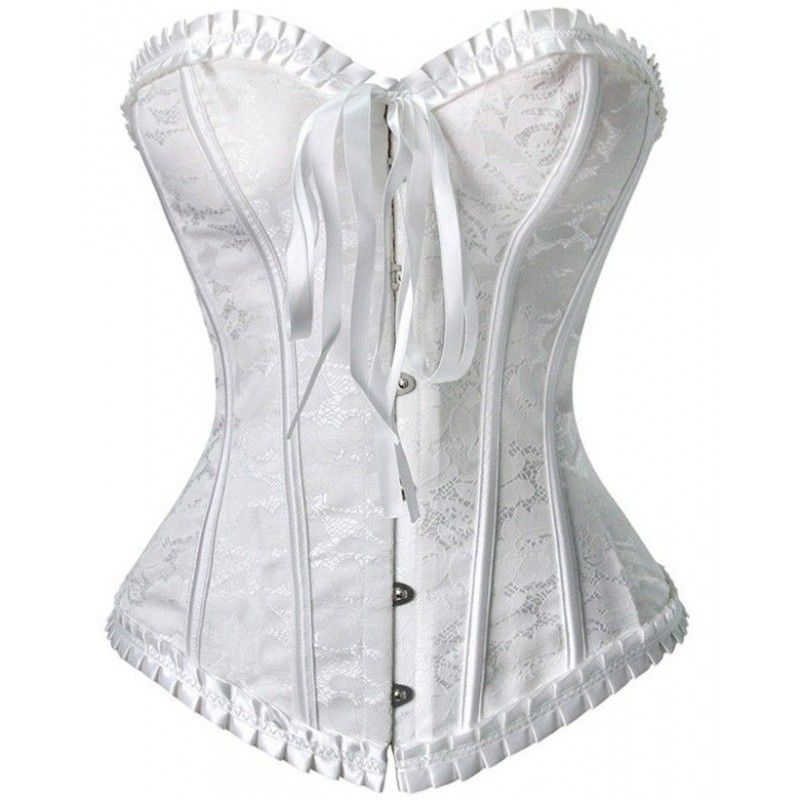 Corset same pattern on white background