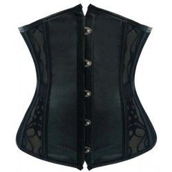 Corset underbust with lace and black leatherette