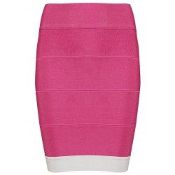 Pink and white bandage skirt