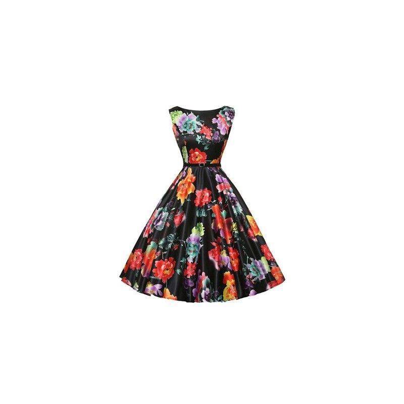 Floral rockabilly summer dress
