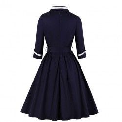 Vintage dark-blue dress