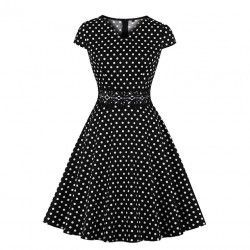 Cute polka dots V neck cap...