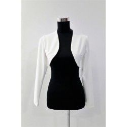 Feminine and flattering bolero in white