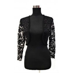 Elegant and combinable torera with lace in black