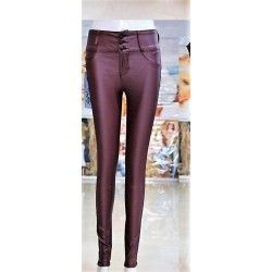 Wine color push-up pants