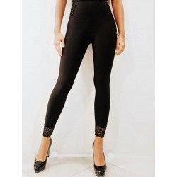 Feminine and sexy black super slimming leggings