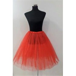 Red tulle cancan